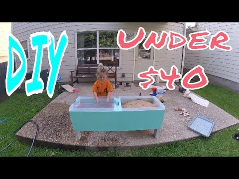 SAND & WATER TABLE under $40 - Build Your Own!