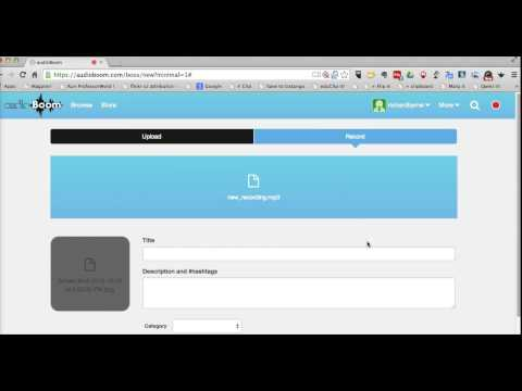 How to Use AudioBoom to Create Short Audio Recordings