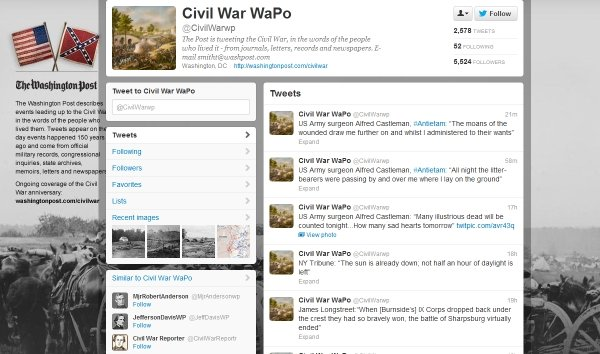 bring history to life with twitter