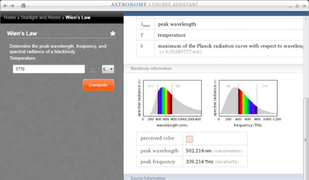 Wolfram Alpha Astronomy App