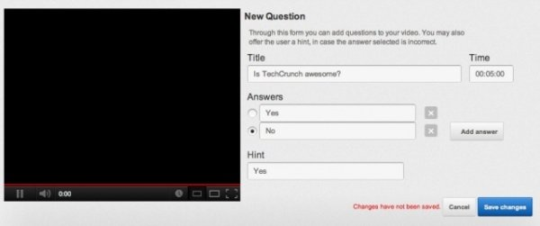 YouTube Questions Editor