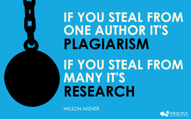 """[image text: """"If you steal from one author it's plagiarism, if you steal for multiple it's research!""""]"""