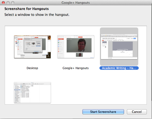 Screenshare for Hangouts