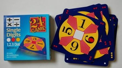 24 Game: 48 Card Deck, Single Digit cards Math Game- Math Games for Kids