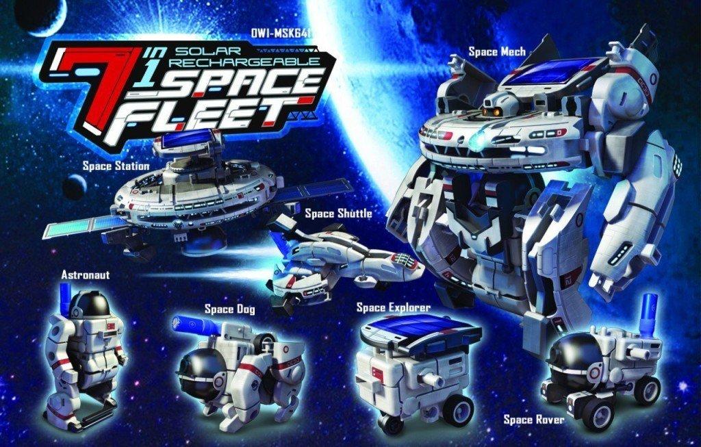 OWI Solar Space Fleet- solar powered toys