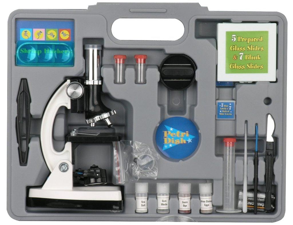 AmScope M30-ABS-KT2-W Beginner Microscope Kit- microscopes for kids