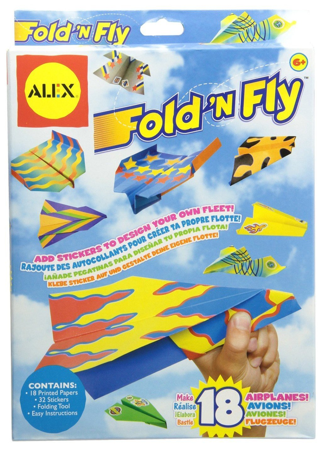 Fold N Fly Paper Airplanes Kit - flying toys