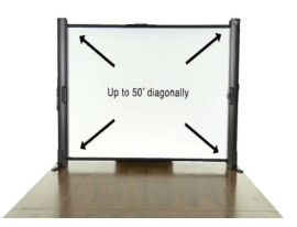 Epson ES1000 Ultra Portable Tabletop Projection Screen - projector screens