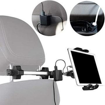Image of Macally Car Tablet Headrest Mount
