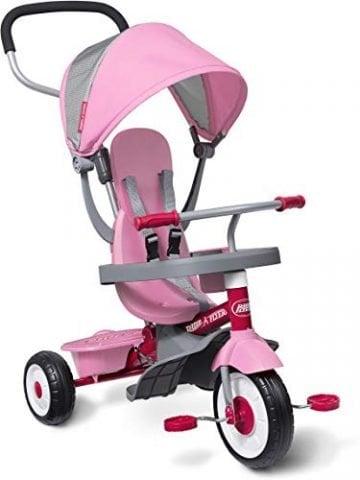 Image Of Pink Radio Flyer 4 In 1 Stroll N Trike