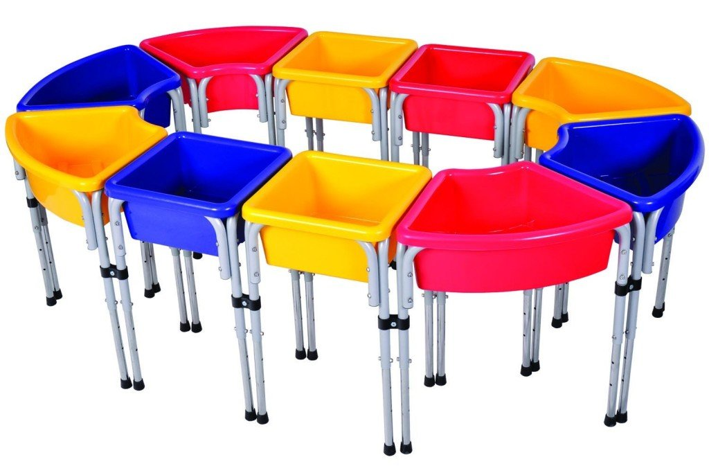 Modular Station Play Tables with Lids