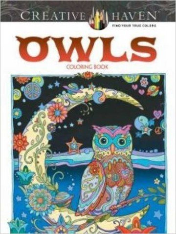 Creative Haven Owls Coloring Book - adult coloring books