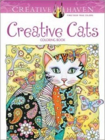 Creative Haven Creative Cats Coloring Book - adult coloring books