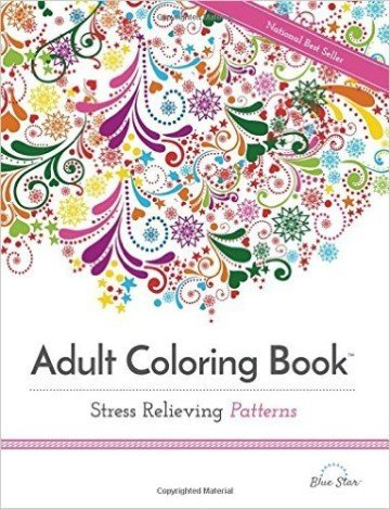 Adult Coloring Book: Stress Relieving Patterns - adult coloring books