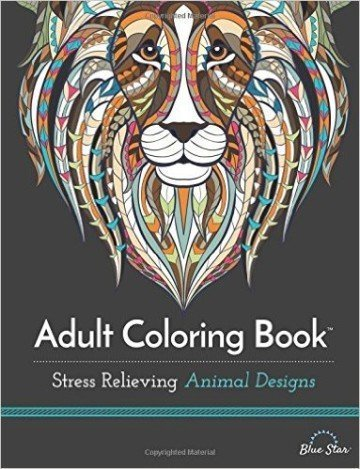 Adult Coloring Book: Stress Relieving Animal Designs- adult coloring books