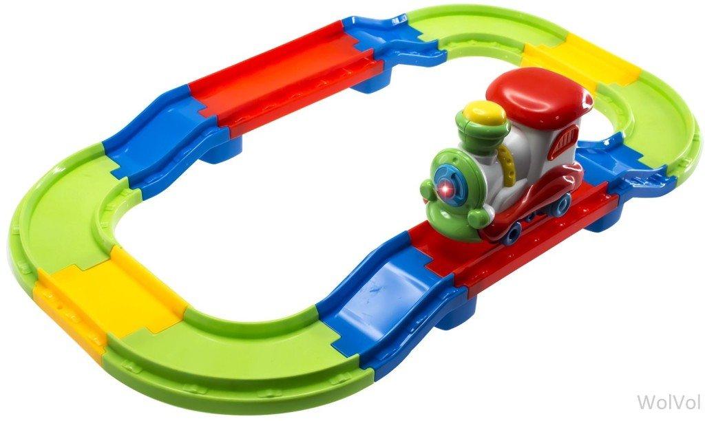 WolVol Kid Starter Colorful Tracks Train Set - train sets for kids