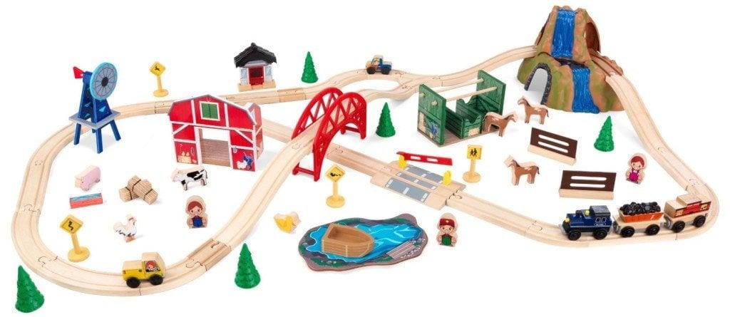 KidKraft Farm Train Set - train sets for kids