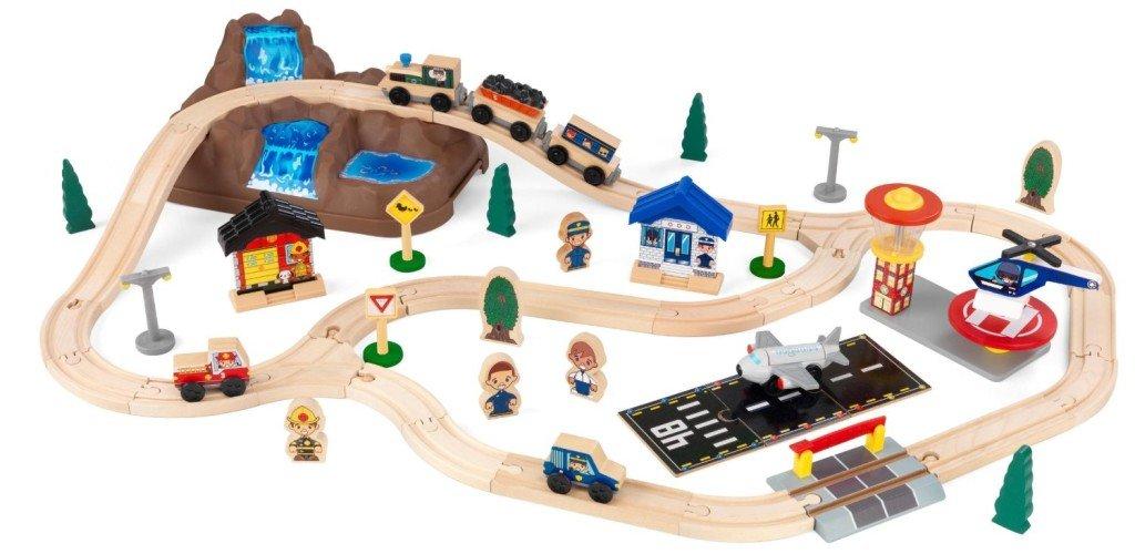 KidKraft Bucket Top Mountain Train Set - train sets for kids