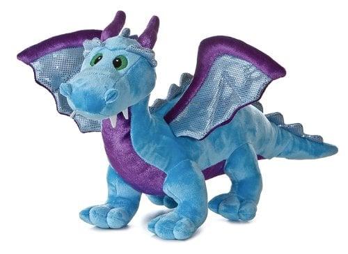 Aurora Plush Blue Dragon - Dragon Toys for Kids