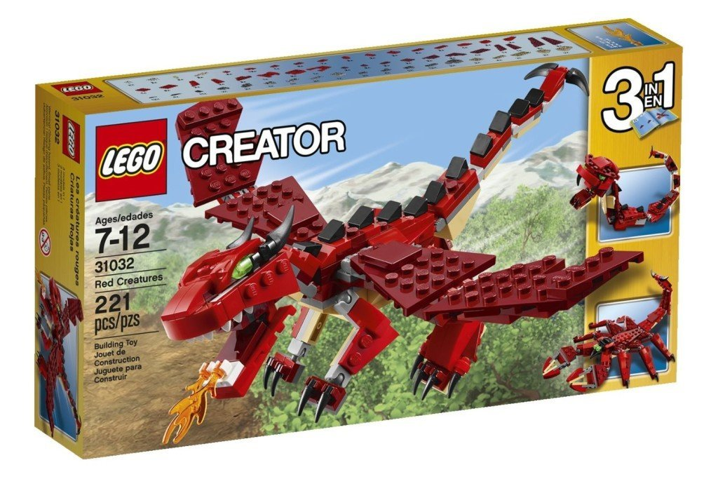 LEGO Creator Red Creatures - Dragon Toys for Kids