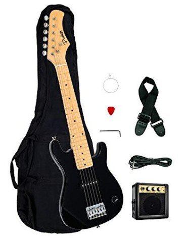 "Kids Black 30"" Inch Electric Guitar and Amplifier Pack - guitars for kids"