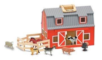 Melissa & Doug Fold & Go Wooden Barn - farm toys