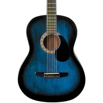 Rogue Starter Acoustic Guitar Blue Burst - guitars for kids