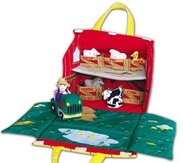 Old MacDonald's Farm Soft Play Set for Toddlers - farm toys