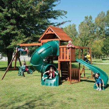 Swing-N-Slide Grandview Twist Wood Complete Play Set- swing sets