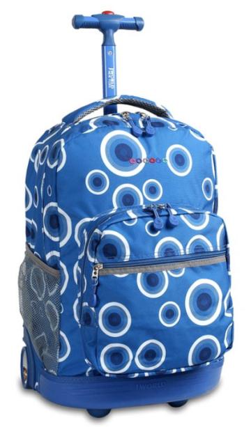 J World New York Sunrise Rolling Backpack - school backpacks