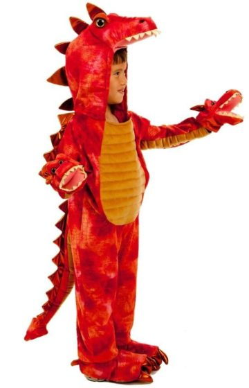 Red Dragon Hydra Monster Halloween Costume
