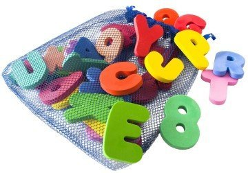 Bath Letters And Numbers With Bath Toys Organizer by Freddie and Sebbie - bath games