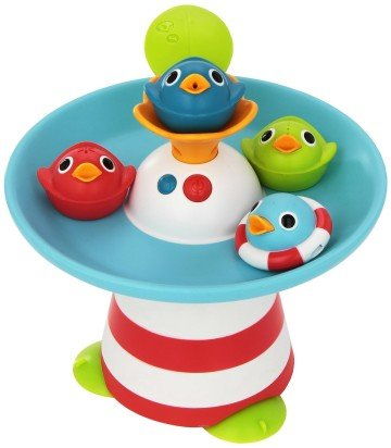 Musical Duck Race with Auto Fountain, Water Pump, and 4 Racing Ducks - bath games