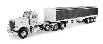 Ertl Big Farm Peterbilt Model 367 Vehicle With Grain Trailer - toy semi trucks