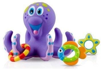 Nuby Bathtime Fun Bath Toys, Octopus Hoopla, Purple - bath toys