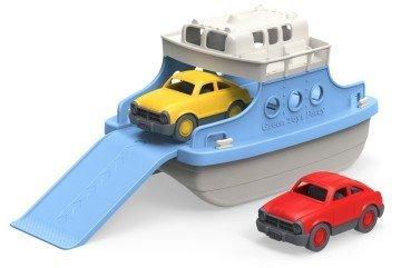 Green Toys Ferry Boat with Mini Cars Bathtub Toy - bath games