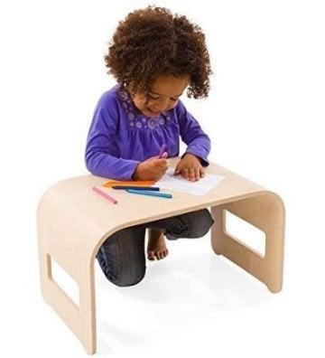 Bent Wooden Desk by Magic Cabin