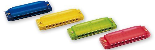 Clearly Colorful Translucent Harmonica by Hohner