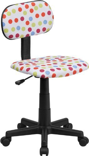 Flash Furniture Multi Colored Dot Printed Computer Chair