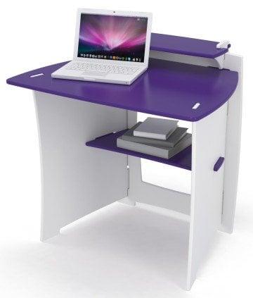 Legare Kid's Desk in Purple and White