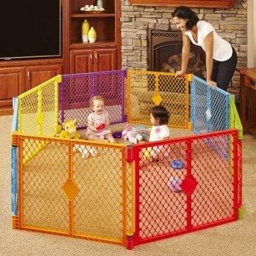 North States Superyard Colorplay Eight Panel Playard - Kids Play Area