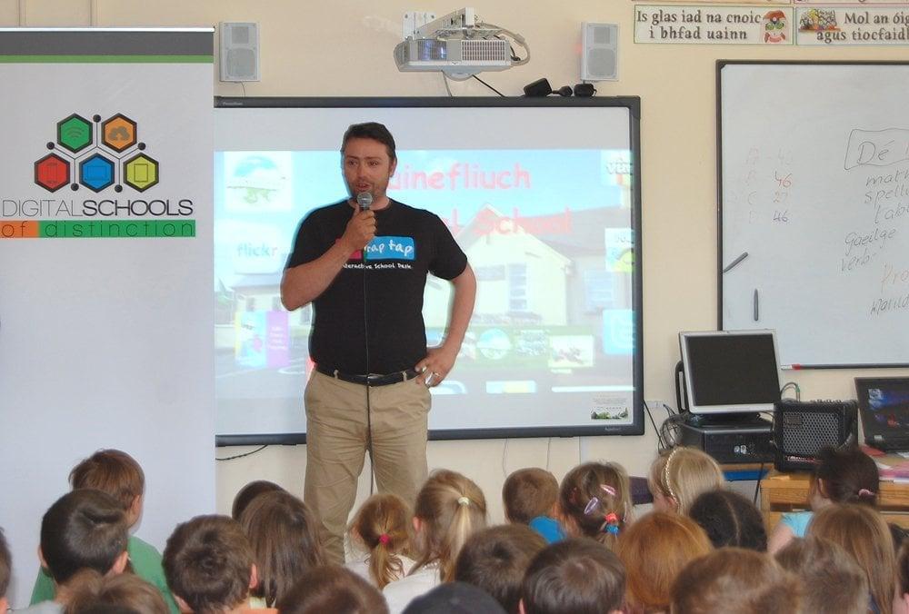 Tip Tap Tap CEO Stephen Collins speaking at Digital Schools of Distinction Awards
