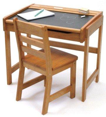Lipper International Child's Chalkboard Desk and Chair Set