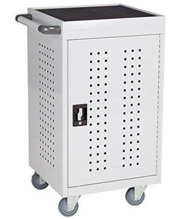 Learniture LNT-GNO1008GR-PK-SO 30 Bay Tablet Charging Cart - iPad cart