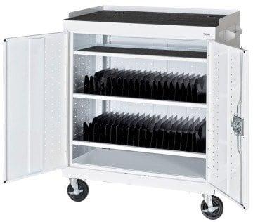 Sandusky MTS362437-22 White Mobile Tablet Storage Cart - iPad cart
