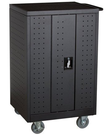 Learniture NOR-GNO1005-PK-SO 1005 12-Outlet Locking Laptop/Tablet Charging Cart - laptop cart