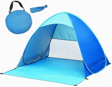 Automatic Pop Up Instant Portable Outdoors Quick Cabana Beach Tent Sun Shelter