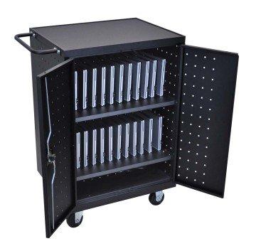 LUXOR LLTP24-B Laptop/Tablet Charging Cart - laptop cart