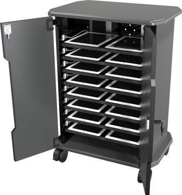 Economy Mobile Laptop Charging Storage Cart and Workstation - iPad cart
