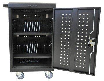Sturdy 30 device chromebook charging cart